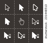 vector black cursor icon set on ... | Shutterstock .eps vector #231448513