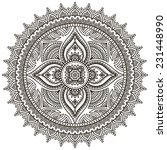 mandala. round ornament pattern.... | Shutterstock .eps vector #231448990