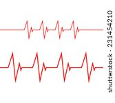 cardiogram on white background | Shutterstock .eps vector #231454210