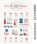 gentleman info graphics set.... | Shutterstock .eps vector #231456880
