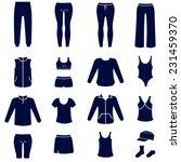 different types of women sport... | Shutterstock .eps vector #231459370