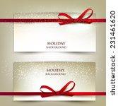 set of two elegant gift cards... | Shutterstock .eps vector #231461620