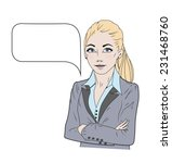 vector illustration of speaking ... | Shutterstock .eps vector #231468760