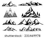 hand drawn mountains vector... | Shutterstock .eps vector #231469978