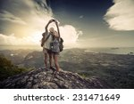 Two Hikers Taking Selfie From...