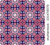 sindhi ajrak pattern vector | Shutterstock .eps vector #231478570