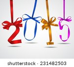 new year colorful ribbons... | Shutterstock .eps vector #231482503