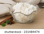 ricotta cheese with cinnamon...   Shutterstock . vector #231484474