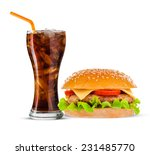 cola and big beautiful juicy... | Shutterstock . vector #231485770
