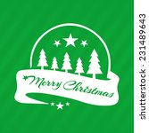 merry christmas greeting green... | Shutterstock .eps vector #231489643