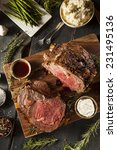 homemade grass fed prime rib... | Shutterstock . vector #231495136