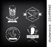 barber shop labels vector icons. | Shutterstock .eps vector #231495460
