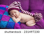 newborn girl sleeps with a... | Shutterstock . vector #231497230
