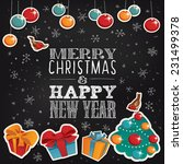 merry christmas and happy new... | Shutterstock .eps vector #231499378