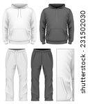 men's hooded tracksuits. black... | Shutterstock .eps vector #231502030