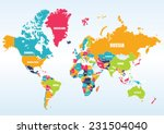 world map countries | Shutterstock .eps vector #231504040