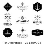 set of retro vintage nautical... | Shutterstock .eps vector #231509776