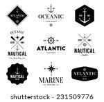 set of logos retro vintage... | Shutterstock .eps vector #231509776