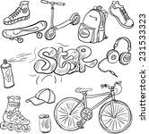 Doodle Set Of Teenagers...