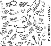 doodle set of components and... | Shutterstock .eps vector #231533329