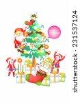 fantastic christmas... | Shutterstock .eps vector #231537124