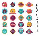 travel badge banner design flat ... | Shutterstock .eps vector #231543973