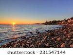 Stock photo altamount beach park west vancouver british columbia canada at sunset 231547144