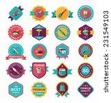 kitchenware badge flat banner... | Shutterstock .eps vector #231549103