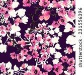 seamless pattern bouquets | Shutterstock . vector #231556396
