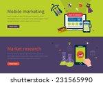set of flat design vector... | Shutterstock .eps vector #231565990