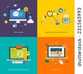 icons for seo  social media ... | Shutterstock .eps vector #231565993
