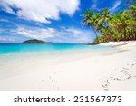 tropical beach scenery in... | Shutterstock . vector #231567373
