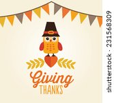 happy thanksgiving day card ...   Shutterstock .eps vector #231568309