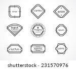 retro hipster badges and labels.... | Shutterstock .eps vector #231570976