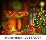 christmas illustration in... | Shutterstock . vector #231572734