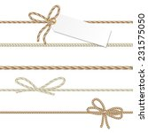 collection of ribbons and bows... | Shutterstock .eps vector #231575050