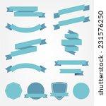 vector set of blue empty retro... | Shutterstock .eps vector #231576250