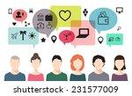 vector banner of speaking... | Shutterstock .eps vector #231577009