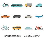 transportation icon series in... | Shutterstock .eps vector #231578590