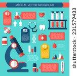 medical flat vector concept. ... | Shutterstock .eps vector #231579433