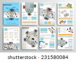 set of flyer design  web... | Shutterstock .eps vector #231580084