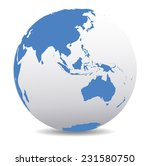 asia and australia  global world | Shutterstock . vector #231580750