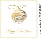 christmas and happy new year... | Shutterstock .eps vector #231590188