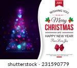 christmas shining typographical ... | Shutterstock .eps vector #231590779