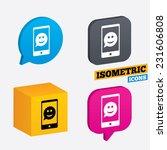 selfie smile face sign icon.... | Shutterstock .eps vector #231606808