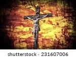 crucifixion jesus on the cross... | Shutterstock . vector #231607006