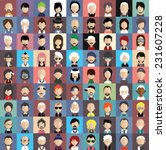 collection of avatars5    81... | Shutterstock .eps vector #231607228