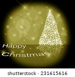christmas tree illustration on... | Shutterstock . vector #231615616