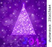 christmas tree illustration on... | Shutterstock . vector #231615664