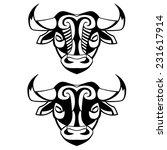 heads of bulls   vector black... | Shutterstock .eps vector #231617914